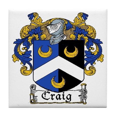 Craig Coat of Arms Tile Coaster