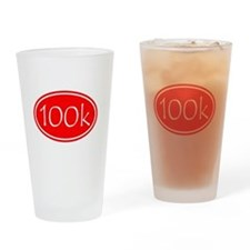 Red 100k Oval Drinking Glass