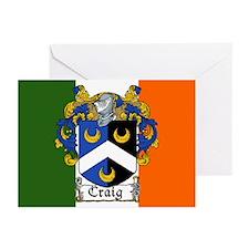 Craig Arms Irish Flag Greeting Cards (Pk of 10)