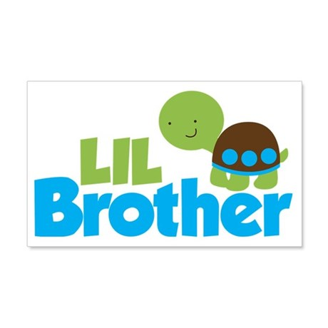 Boy Turtle Little Brother 20x12 Wall Decal