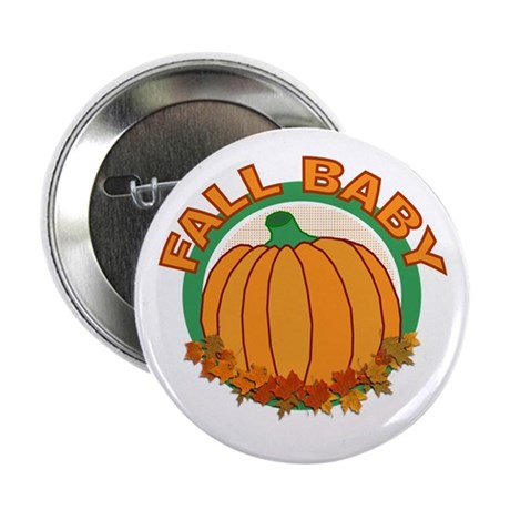 Fall Baby Pumpkin Button