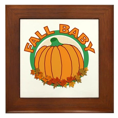 Fall Baby Pumpkin Framed Tile