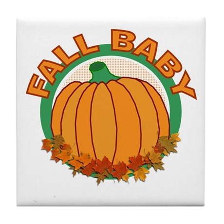 Fall Baby Pumpkin Tile Coaster
