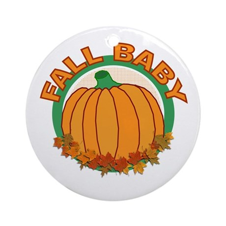 Fall Baby Pumpkin Ornament (Round)