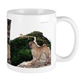 Shar Pei on the Great Wall of Small Mug