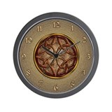Celtic Knotwork Enamel Wall Clock