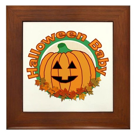 Halloween Baby Framed Tile