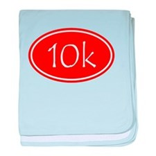 Red 10k Oval baby blanket
