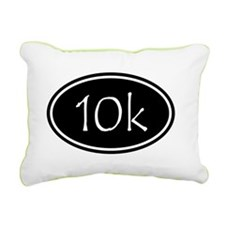 Black 10k Oval Rectangular Canvas Pillow
