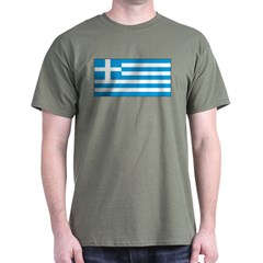 Greece Greek Blank Flag T-Shirt