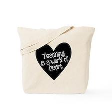 Teacher Heart Tote Bag