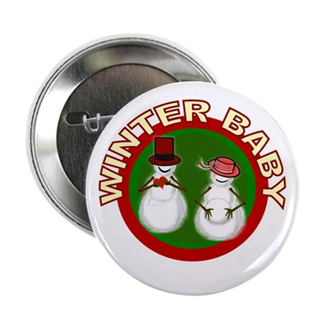 Winter Baby Snowman Button