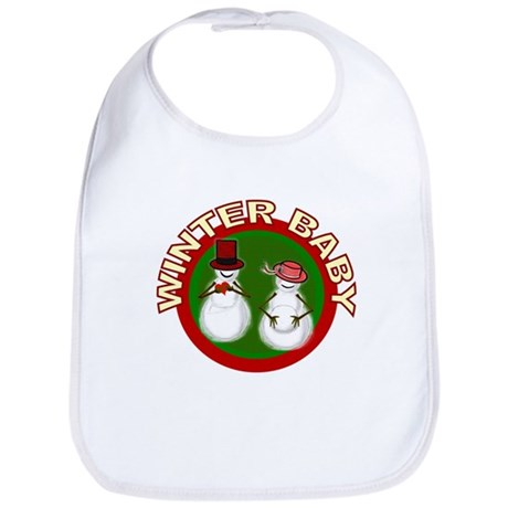 Winter Baby Snowman Bib
