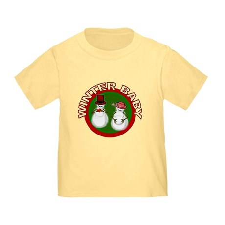 Winter Baby Snowman Toddler T-Shirt