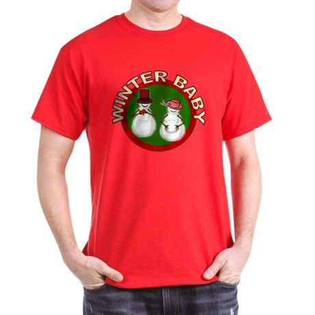 Winter Baby Snowman Dark T-Shirt