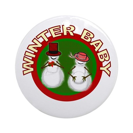 Winter Baby Snowman Ornament (Round)