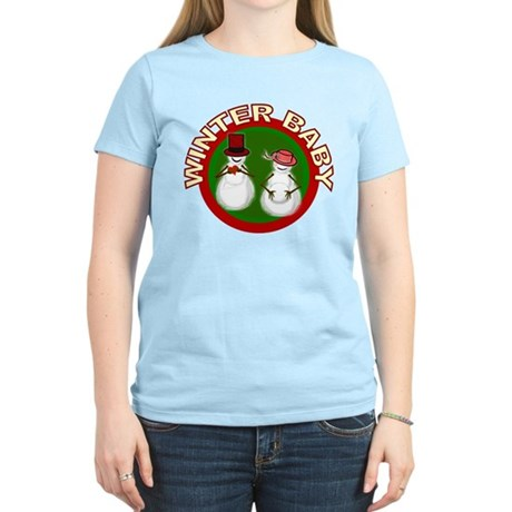 Winter Baby Snowman Women's Light T-Shirt