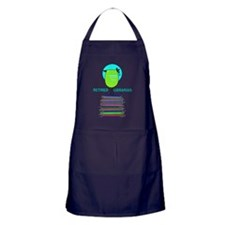 RETIRED LIBRARIAN BIRD 6 Apron (dark)