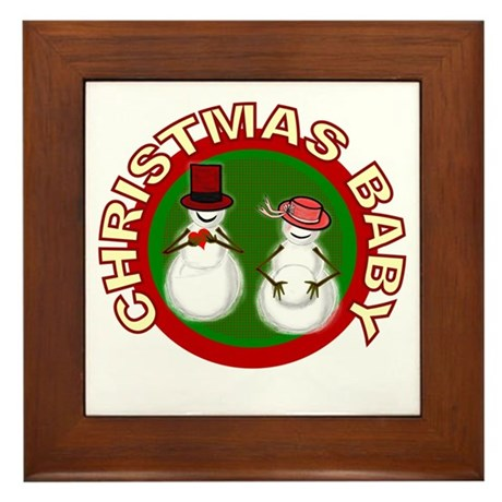 Christmas Baby Framed Tile