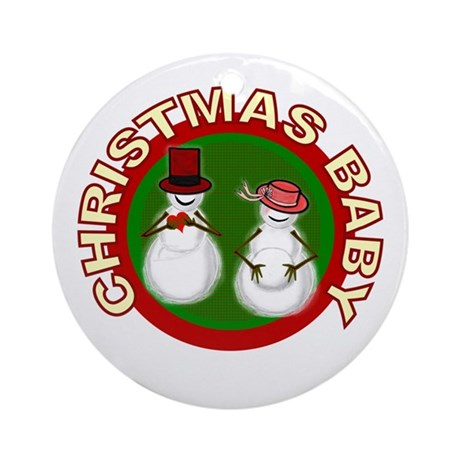 Christmas Baby Ornament (Round)