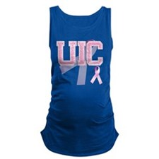 UIC initials, Pink Ribbon, Maternity Tank Top