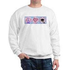 peace love rat terrier by m. french Sweatshirt