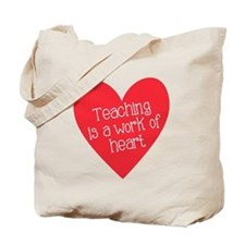 Red Teacher Heart Tote Bag