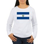 El Salvador Flag Women's Long Sleeve T-Shirt