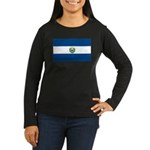 El Salvador Flag Women's Long Sleeve Dark T-Shirt
