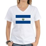 El Salvador Flag Women's V-Neck T-Shirt