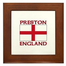 Cute Preston city Framed Tile