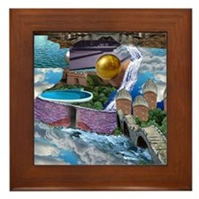 CITY IN THE CLOUDS Framed Tile