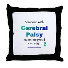 """Cerebral Palsy Pride"" Throw Pillow"