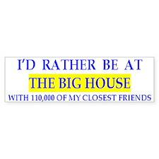 Michigan Big House Bumper Car Sticker