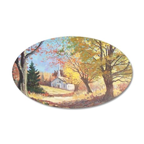 autumn light 35x21 Oval Wall Decal