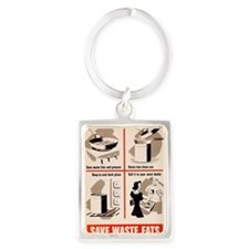 SAVE WASTE FATS (WAR PRODUCTION  Portrait Keychain