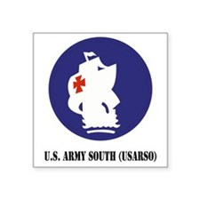 "U.S. Army South (USARSO) wi Square Sticker 3"" x 3"""