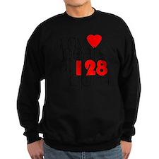 My Heart Beats At 128 BPM Versio Sweatshirt