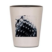 Close up of bicycle gears Shot Glass
