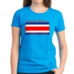 Costa Rica Costa Rican Flag Women's Dark T-Shirt