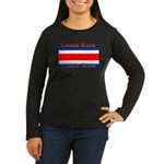 Costa Rica Costa Rican Flag Women's Long Sleeve Da