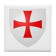 Cute Knights templar Tile Coaster