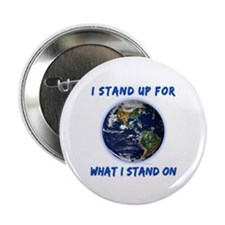 "Earth Stand 2.25"" Button (100 pack)"