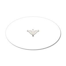 Beadwork Mute Swan 20x12 Oval Wall Decal