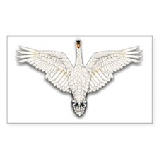 Beadwork Mute Swan Decal
