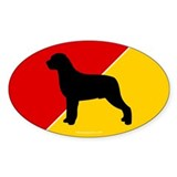 German Flag Rottie Oval Decal