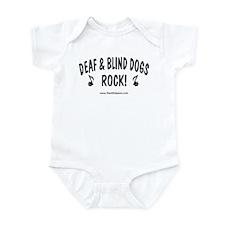 Deaf & Blind Dogs Rock  Infant Bodysuit