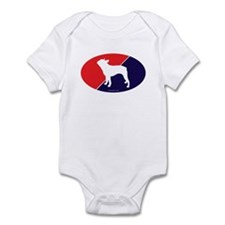 US Flag Boston Terrier Infant Bodysuit