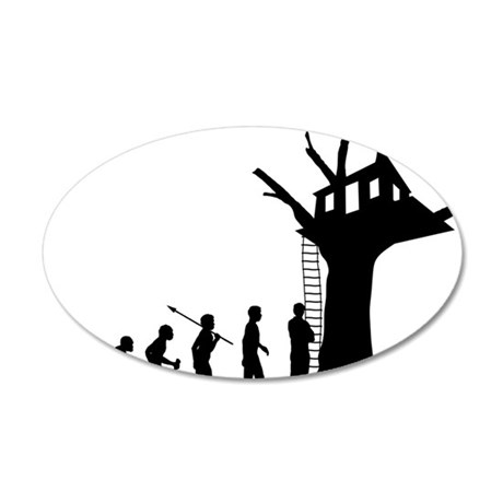 Tree-House 35x21 Oval Wall Decal