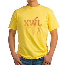 XWL initials, Pink Ribbon, T